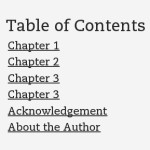 Ebook Linkable Table of Contents (TOC)