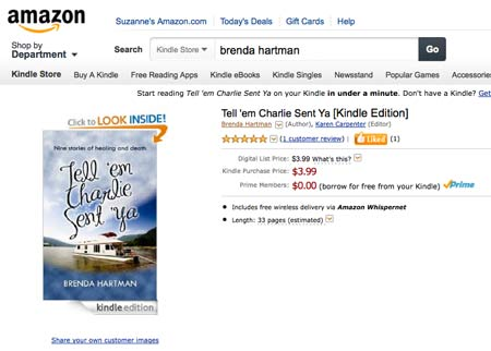 Author Central - Amazon Kindle e-book page