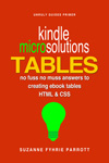 Kindle MICRO Solutions: Creating eBook tables with HTML & CSS
