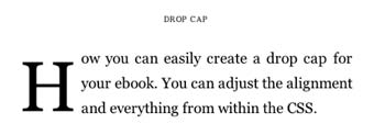 Text Drop Cap ebook