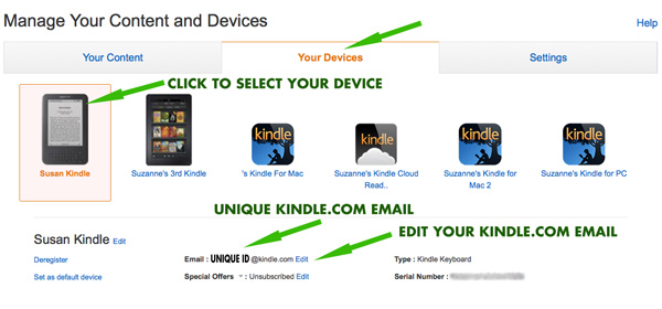send pdf to kindle email